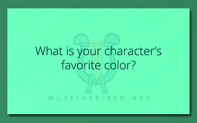 Character Development – What is their favorite color?