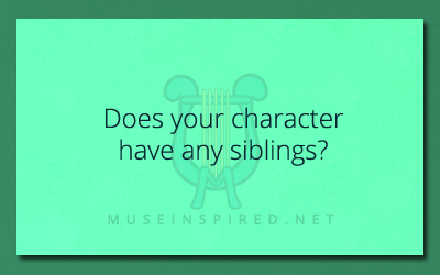 Character Development – Do they have siblings?