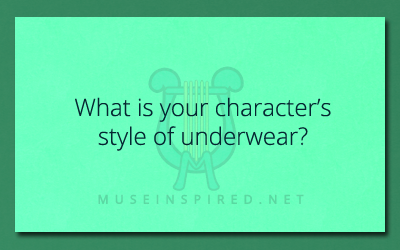 Character Development – What's their style of underwear?