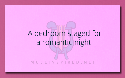 Siring Settings – A bedroom staged for a romantic night.
