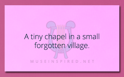 Siring Settings – The small chapel in a tiny forgotten village.