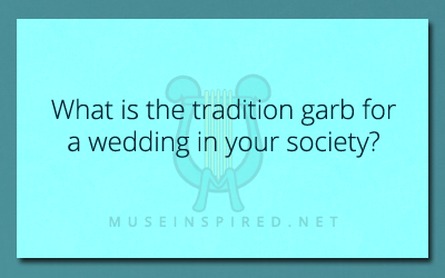 Cultivating Cultures – What is the traditional garb for a wedding in your society?