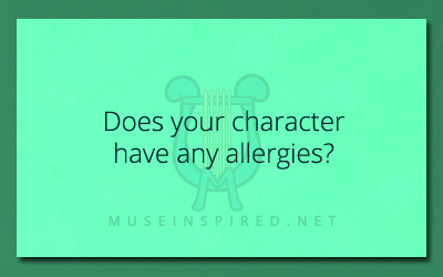 Character Development – Does your character have any allergies?