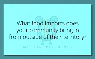 Cultivating Cultures – What food imports does your culture bring in from outside of their territory?