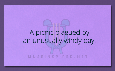 What's the Story – A picnic plagued by an unusually windy day.