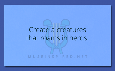 Crafting Creatures – Create a creature that roams in herds.