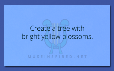 Fabricating Flora – Create a tree with bright yellow blossoms.