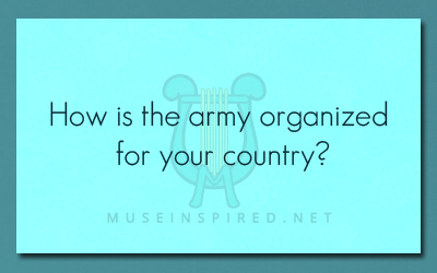 Cultivating Cultures – How is the army organized for your country?