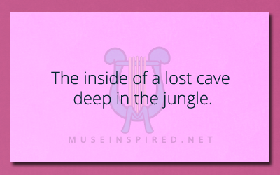 Siring Settings – The inside of a lost cave deep in the jungle.