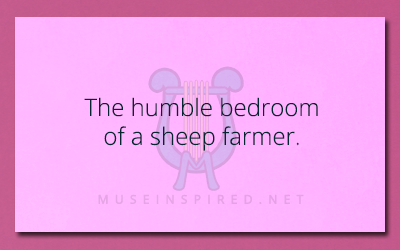 Siring Settings – The humble bedroom of a sheep farmer.