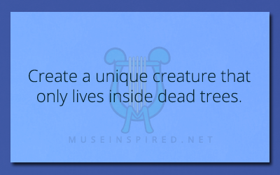 Crafting Creatures – Create a unique creature that only lives inside dead trees.