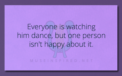 What's the Story – Everyone is watching him dance, but one person isn't happy about it.