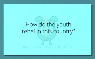 Cultivating Cultures – How do the youth rebel in this country?