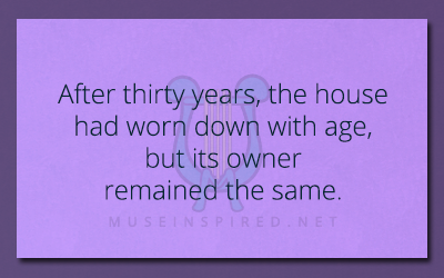 What's the Story – After thirty years, the house had worn down with age, but its owner remained the same.