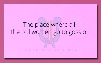 Siring Settings – The place where all the old women go to gossip.