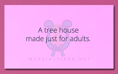 Siring Settings – A tree house made just for adults.