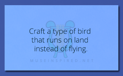Crafting Creatures – Craft a type of bird that runs on land instead of flying.