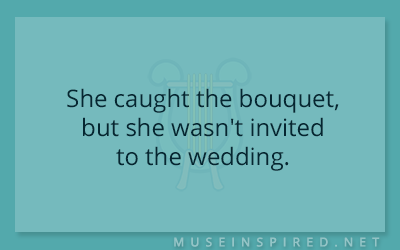 What's the Story – She caught the bouquet, but she wasn't invited to the wedding.