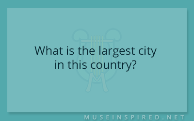 Cultivating Cultures – What is the largest city in this country?