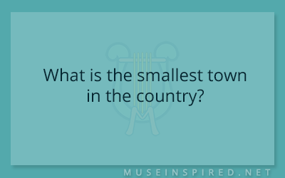 Cultivating Cultures – What is the smallest town in the country?