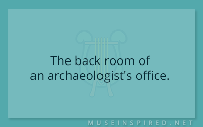 Siring Settings – The back room of an archaeologist's office.