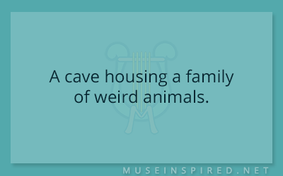 Siring Settings – A cave housing a family of weird animals.