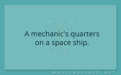 Siring Settings – A mechanic's quarters on a space ship.