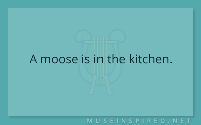 What's the Story – A moose is in the kitchen.