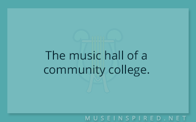 Siring Settings – The music hall of a community college.