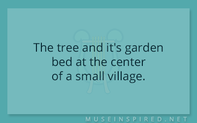 Siring Settings – The tree and it's garden bed at the center of a small village.