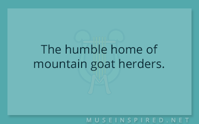 Siring Settings – The humble home of mountain goat herders.