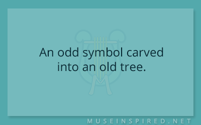 What's the Story – An odd symbol carved into an old tree.