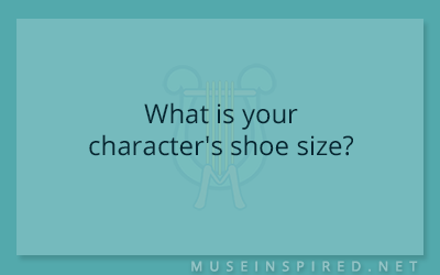 Character Development – What is your character's shoe size?
