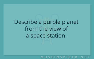 Siring Settings – Describe a purple planet from the view of a space station.